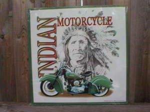 INDIAN MOTORCYCLES TIN SIGN METAL ADV SIGNS I