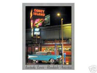 CONEY ISLAND 1957 CHEVY TIN SIGN METAL ADV AD SIGNS C