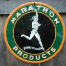 MARATHON PRODUCTS TIN SIGN METAL ADV AD SIGNS M