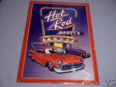HOT ROD HEAVEN SIGN METAL ADV AD SIGNS H