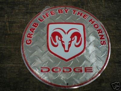 DODGE ALUMINUM ROUND SIGN METAL BAR HOME CAFE CAR SIGNS