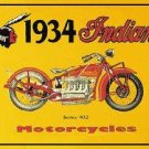INDIAN MOTORCYCLE TIN SIGN RETRO METAL ADV SIGNS I