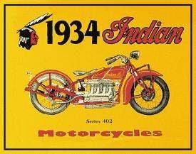 INDIAN MOTORCYCLE TIN SIGN RETRO METAL ADV SIGNS I