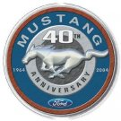 MUSTANG 40TH ROUND TIN SIGN METAL RETRO ADV SIGNS M