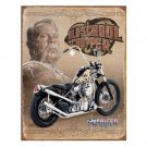 OLD SCHOOL CHOPPER TIN SIGN METAL RETRO ADV SIGNS C