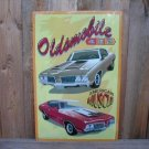 OLDSMOBILE TIN SIGN CAFE BAR CAR METAL RETRO AD SIGNS O