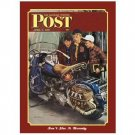 SATURDAY EVENING POST MOTORCYCLE SIGN METAL ADV SIGNS M