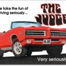 PONTIAC GTO THE JUDGE TIN SIGN .. METAL RETRO ADV SIGNS