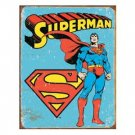 SUPERMAN RETRO SIGN COLLECTOR METAL SIGNS S