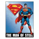 SUPERMAN MAN OF STEEL SIGN COLLECTOR METAL SIGNS S