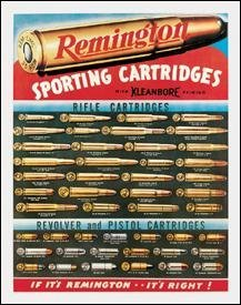 REMINGTON SPORTING CARTRIAGES TIN SIGN METAL ADV SIGNS