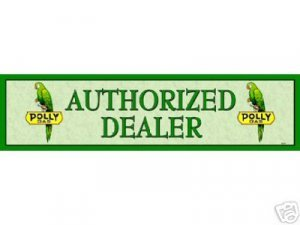 POLLY GAS AUTHORIZED DEALER SIGN GAS OIL AD ADV SIGNS P