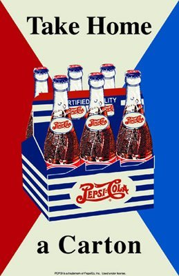 PEPSI TAKE HOME A CARTON TIN SIGN RETRO ADV SIGNS P