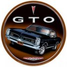 GTO ROUND TIN SIGN RETRO MUSCLE CAR AUTO ADV SIGN G