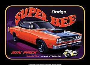 DODGE SUPER BEE muscle car Tin Sign