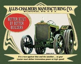 ALLIS CHALMERS  MODEL 20-35 SIGN METAL ADV AD SIGNS A