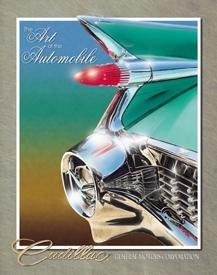 CADILLAC '59 TAILS TIN SIGN RETRO ADV METAL SIGNS C