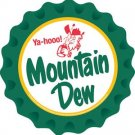 MOUNTAIN DEW MOLDED CRIMPED BOTTLE CAP M
