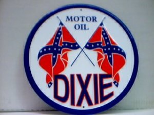 DIXIE MOTOR OIL TIN SIGN METAL RETRO ADV SIGNS D