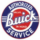 BUICK AUTHORIZED SERVICE SIGN  BAKED ENAMEL ADV SIGNS B