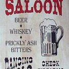 BOTTOMS UP SALOON RETRO TIN SIGN METAL BAR HOME SIGNS