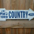FORD COUNTRY ARROW ALUM SIGN METAL CAR AD RETRO SIGNS F