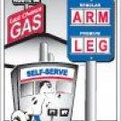 ARM & LEG LAST CHANCE GAS RETRO SIGN METAL ADV SIGNS A