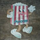 SM DANCING POPCORN RETRO TIN SIGN METAL FOOD HOME SIGNS