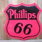 PHILLIPS 66 SHIELD SIGN GAS OIL RETRO AD METAL SIGNS P