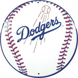 DODGERS BASEBALL  SIGN METAL ADV AD SIGNS D