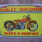 HD TIN SIGN COLLECTOR MOTORCYCLE AD SIGNS