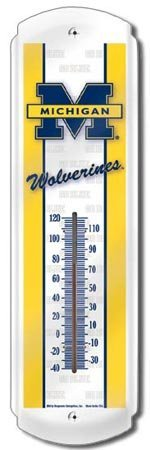 MICHIGAN THERMOMETER SIGN METAL ADV SIGNS M