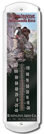 REMINGTON AUTOLOADING RIFLE THERMOMETER SIGN METAL ADV SIGNS E