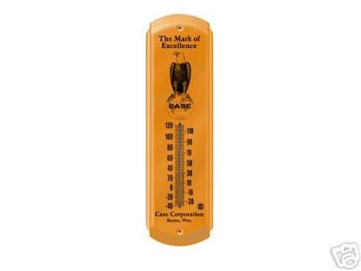 CASE THERMOMETER SIGN METAL ADV SIGNS C