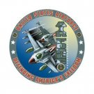 US AIR FORCE ROUND TIN SIGN METAL MILITARY SIGNS N