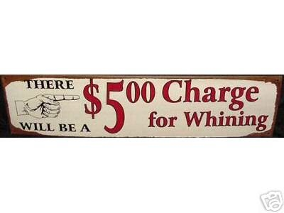 WHINING TIN SIGN VINTAGE STYLE METAL HOME BAR AD SIGNS