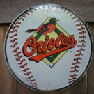 BALTIMORE ORIOLES ROUND ALUMINUM BASEBALL SIGN B