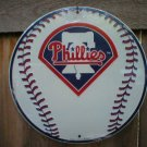 PHILIDELPHIA PHILLIES ROUND ALUMINUM BASEBALL SIGN P