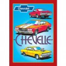 CHEVROLET CHEVELLE TIN SIGN METAL CHEVY CAR BAR SIGNS C