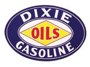 DIXIE OILS-GASOLINE OVAL SIGN RETRO ADV SIGNS D