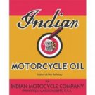 INDIAN MOTORCYCLE OIL STEEL SIGN METAL GAS OIL AD SIGNS