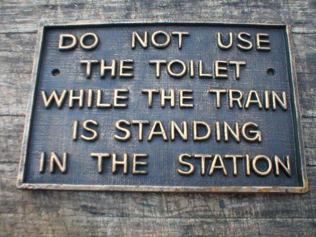 CAST IRON TRAIN STATION SIGN IRONWARE DECOR T