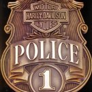 MOTORCYCLE POLICE BADGE SIGN RETRO ADV SIGNS H