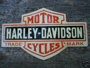 MOTORCYCLE SHIELD TIN SIGN METAL ADV SIGNS H