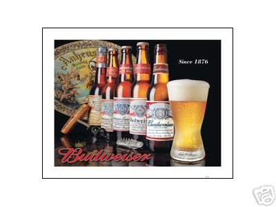 BUDWEISER SINCE 1876 SIGN METAL ADV SIGNS B