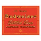 BUDWEISER BOTTLED BEER SIGN METAL ADV SIGN B