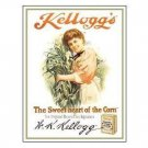 KELLOGG'S TOASTED CORN FLAKES TIN SIGN METAL ADV SIGNS K