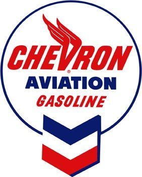 CHEVRON AVIATION GASOLINE SIGN DECORATIVE METAL SIGNS C
