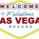 WELCOME TO LAS VEGAS SIGN METAL ADV SIGNS L
