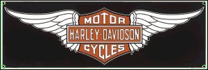 HARLEY DAVIDSON PORCELAIN-COATED WINGS H